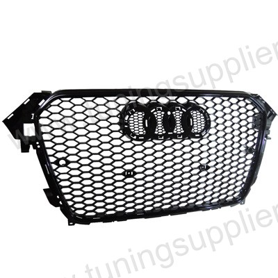 2012-2014 RS4 HONEYCOMB STYLE FRONT HOOD MESH GRILLE FOR AUDI A4 S4 CAR