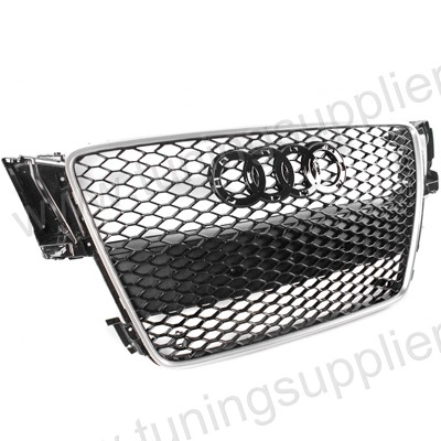 2007-2011 RS4 HONEYCOMB STYLE FRONT HOOD MESH GRILLE FOR AUDI A4 S4 CAR
