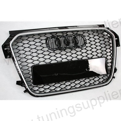 RS1 HONEYCOMB STYLE FRONT HOOD MESH GRILLE FOR AUDI A1 S1 CAR